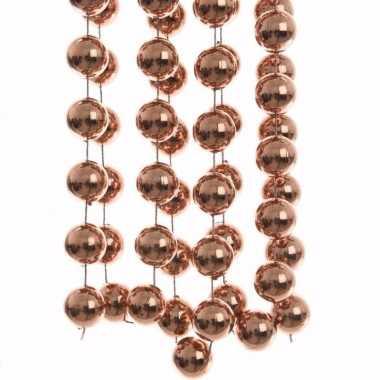 Ambiance christmas bronzen kerstversiering grote kralenslinger 270 cm