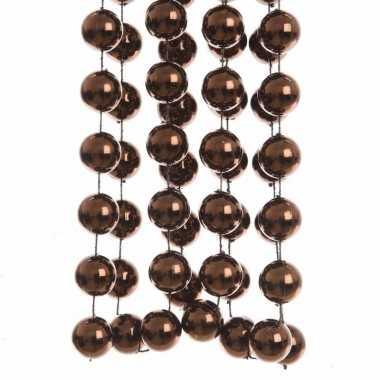 Bruine kralenslinger 270 cm