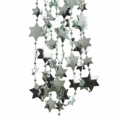 Feestversiering kralen slingers mintgroen sterretjes 270 cm kunststof/plastic kerstversiering 3 stuks