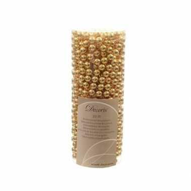Gouden kerstboom versiering kralen slinger