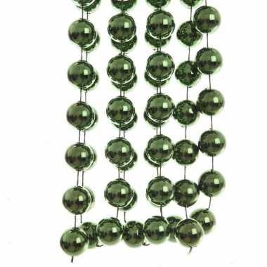 Groene kralenslinger 270 cm