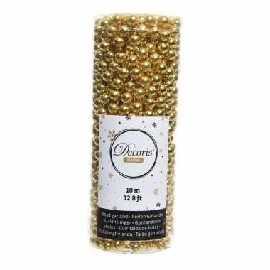 Kerstboomversiering kralenslinger goud 1000cm