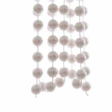 Witte kralenslinger 270 cm