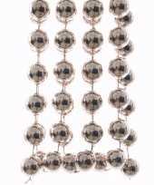 3x stuks lichtroze xxl kralenslingers kerstslingers 270 cm