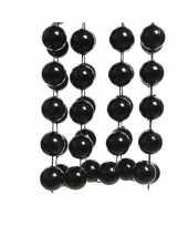 3x stuks zwarte xxl kralenslingers kerstslingers 270 cm
