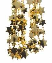 6x stuks gouden sterren kralenslingers kerstslingers 270 cm