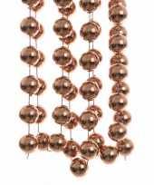 Bronzen kralenslinger 270 cm