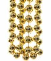 Chique christmas gouden kerstversiering grote kralenslinger 270 cm