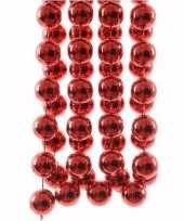 Christmas red rode kerstversiering grote kralenslinger 270 cm