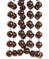 Cosy christmas bruine kerstversiering grote kralenslinger 270 cm
