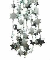 Feestversiering kralen slingers mintgroen sterretjes 270 cm kunststof plastic kerstversiering 3 stuks