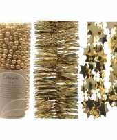 Kerstboom slingers 3 stuks goud