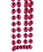 Kerstboomversiering kralenslinger fuchsia 270 cm