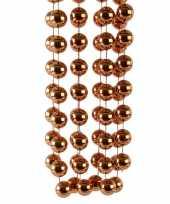 Kerstboomversiering kralenslinger koper bruin 270 cm