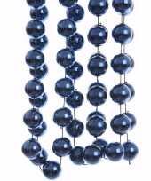 Mystic christmas blauwe kerstversiering grote kralenslinger 270 cm