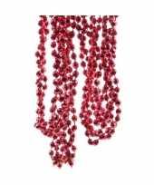Roze kerstversiering kralenslinger