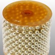 Feestversiering kralen slingers goud sterretjes 270 cm kunststof/plas